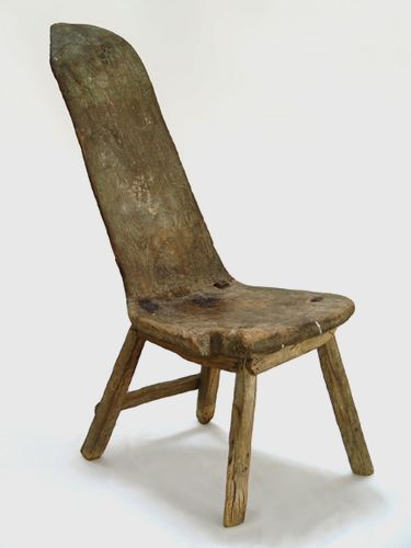 Primitive teak chair