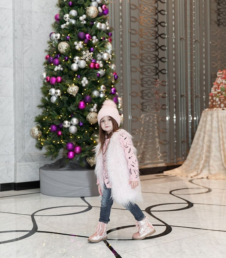 Faux Fur and Pink | Chicago Street Style | Waldorf Astoria