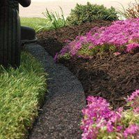 A M Leonard Recycled Rubber Mulch Edging In Dark Brown 8 Foot Http