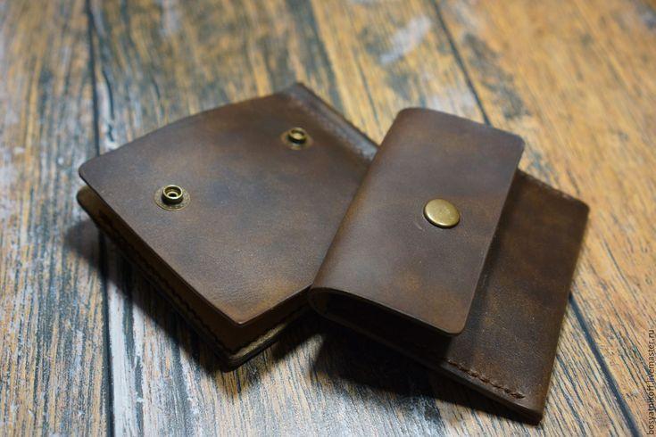 Купить Зажим для денег со съемной монетницей и 3-мя отделами для пласт карт - коричневый