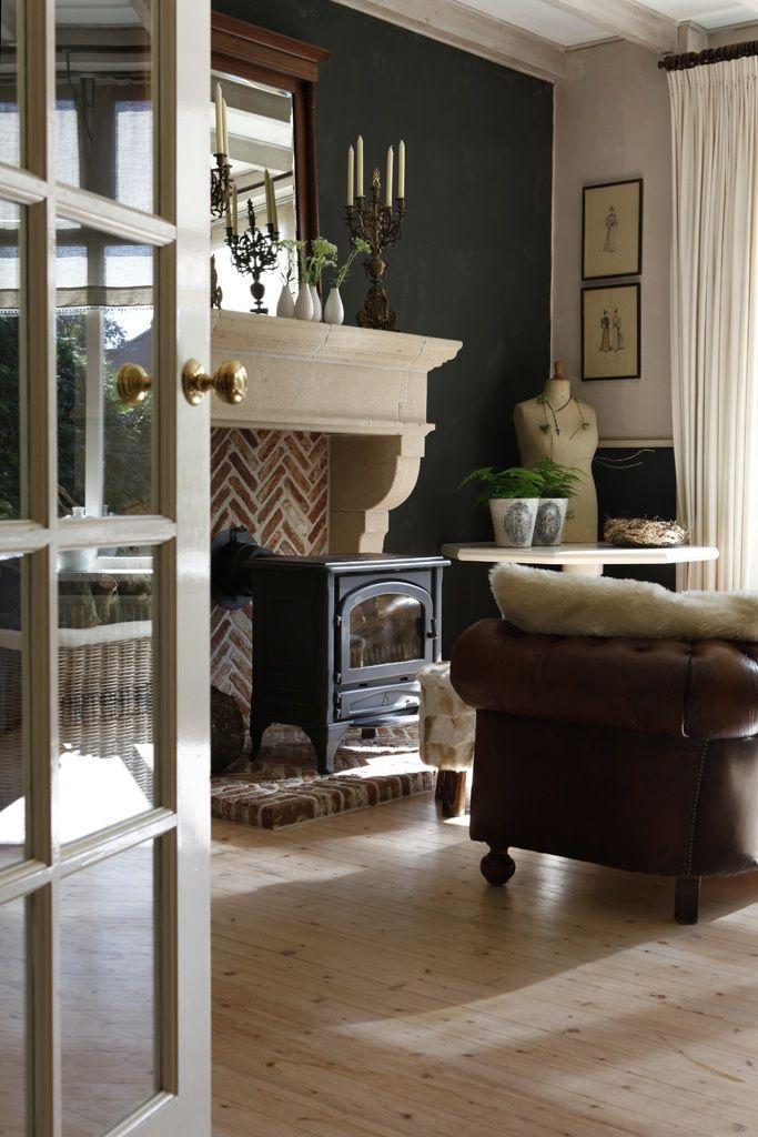 17 beste afbeeldingen over haarden op pinterest fornuis open haarden en franse deur gordijnen - Gordijnen landelijke stijl chique ...