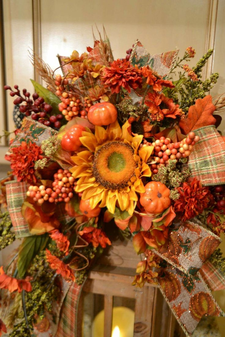 Fall Arrangements Lanterns Swag Wreaths Garlands Door