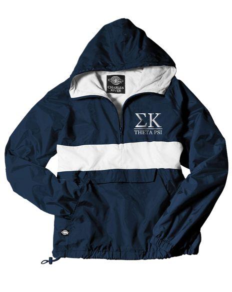 Sigma Kappa Windbreaker by Adam Block Design | Custom Greek Apparel & Sorority Clothes | www.adamblockdesign.com