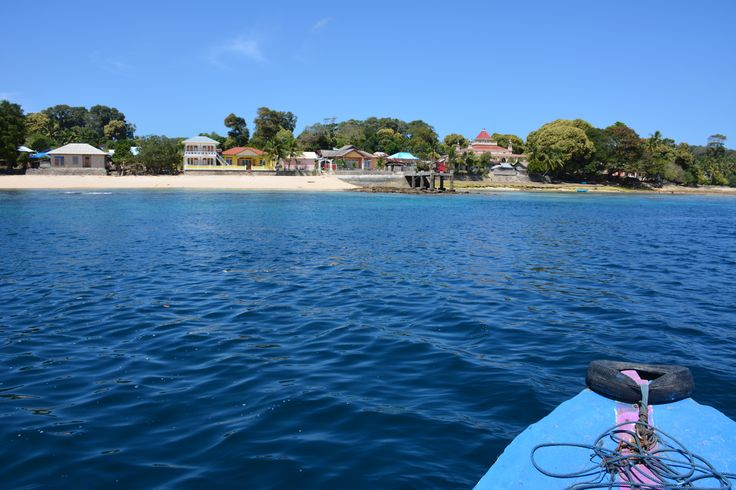 Arriving at Ay Island.  Beautifully clear waters and only 30 minutes from Banda Neira by boat