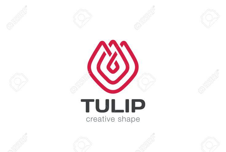 52519797-Tulip-abstract-flower-Logo-design-vector-template-linear-style-Creative-shape-lineart-outline-Logoty-Stock-Vector.jpg (1300×875)