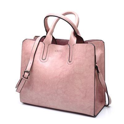 f115ecca28cb Leather Handbags Big Women Bag High Quality Casual Female Bags Trunk Tote  Spanish Brand Shoulder Bag Ladies Large Bolsos