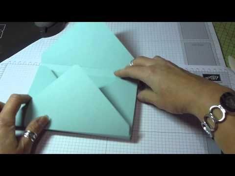 ▶ C6 (UK size) Box Envelope using the Envelope Punch Board by Stampin' Up! - YouTube