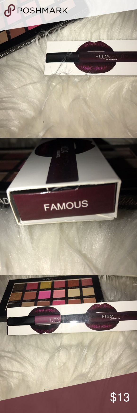 Huda Beauty Matte lipstick in Famous ✨ Got this as a gift, has only been used once. huda beauty Makeup Lipstick