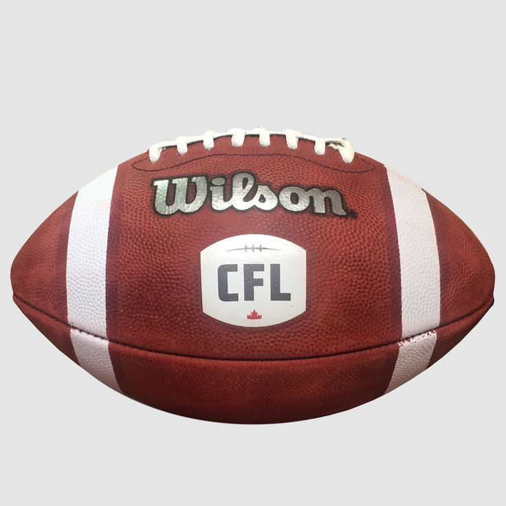 CFL Wilson Official Game Ball / Ballon de jeu officiel de la LCF de Wilson. Exclusive Wilson CFL leather with Tanned in Tack for professional grip and top performance.  Double laced for CFL style throwing. Branded with the NEW Canadian Football League logo.   Patented 3-ply VPU bladder for maximum durability and air retention.