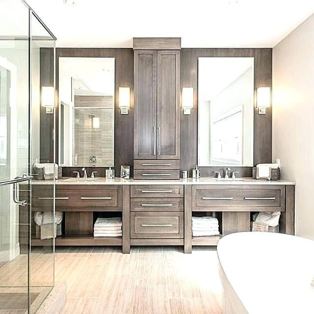 L Shaped Double Vanity His And Her Bathroom Vanities Furniture L Shaped Bathroom Vanity Master Bathroom Decor Master Bathroom Design Modern Master Bathroom