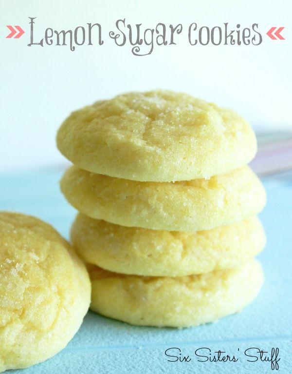 Lemon Sugar Cookies Recipe on MyRecipeMagic.com