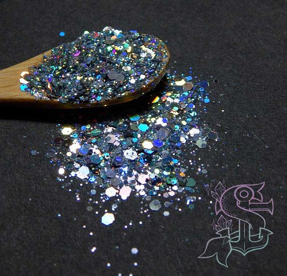 "Glitter mix ""Space oddity"" holographic solvent resistant glitter, nail art, UV resin,"