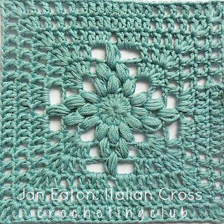"""Free pattern/pic tutorial for Jan Eaton's """"Italian Cross Granny Square""""! ♡ Teresa Restegui http://www.pinterest.com/teretegui/ ♡"""