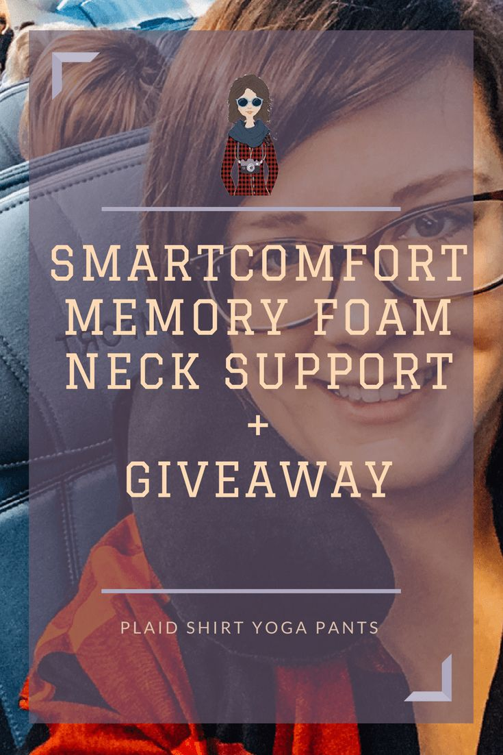 Click to read my review of the SmartComfort Memory Foam Neck Support and enter my giveaway from now until December 15, 2017.
