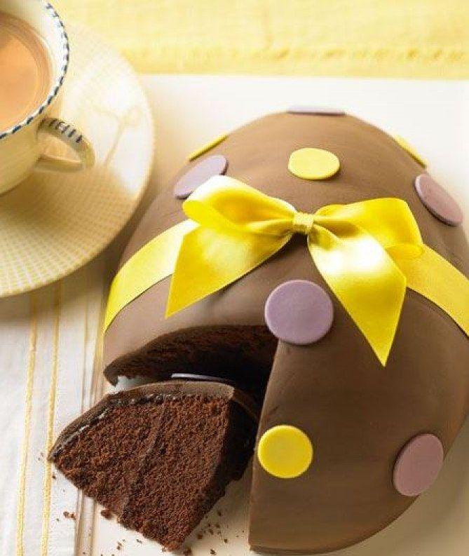 Le gâteau œuf au chocolat pour Pâques