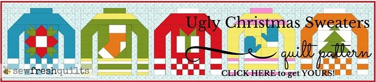 Ugly Christmas Sweaters QAL - Economy Square Block