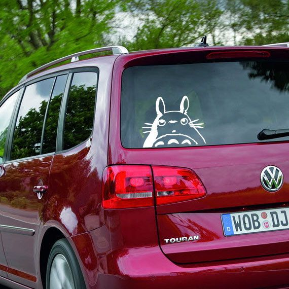 @Amanda Graham Totoro vinyl sticker for car. $10.99, via Etsy.  First project for the Explore?