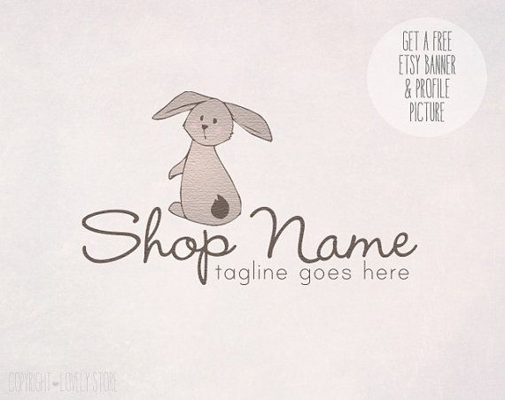 Pre-made Illustrated OOAK Logo Design + get Etsy Banner & Profile Picture free