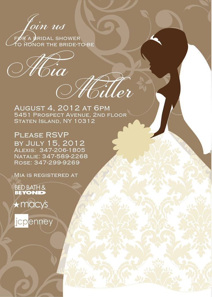 Bridal shower invite templates free bridal shower for Online wedding shower invitations