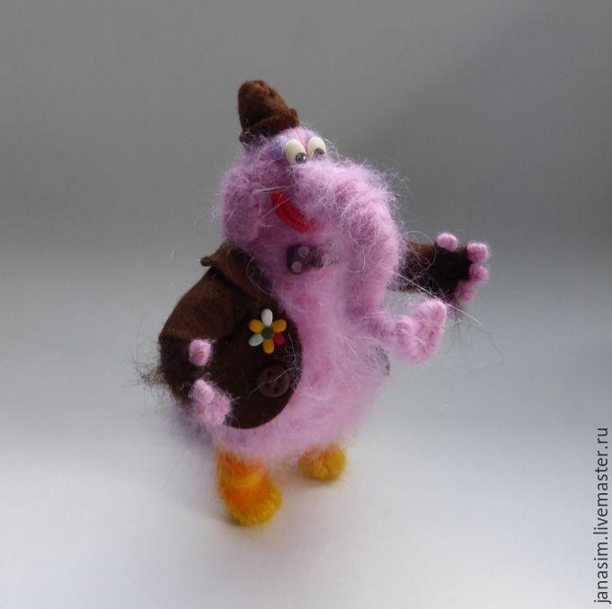 Купить Бинго Бонго - разноцветный, бинго бонго, головолмка, мультфильм, мульт, мультяшка, игрушка из пряжи