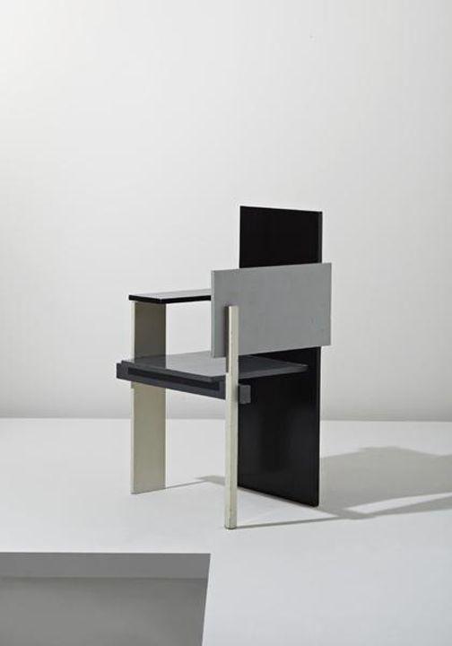 "nicoonmars:    GERRIT THOMAS RIETVELD  ""Berlin"" chair, designed 1923, executed ca. 1957"