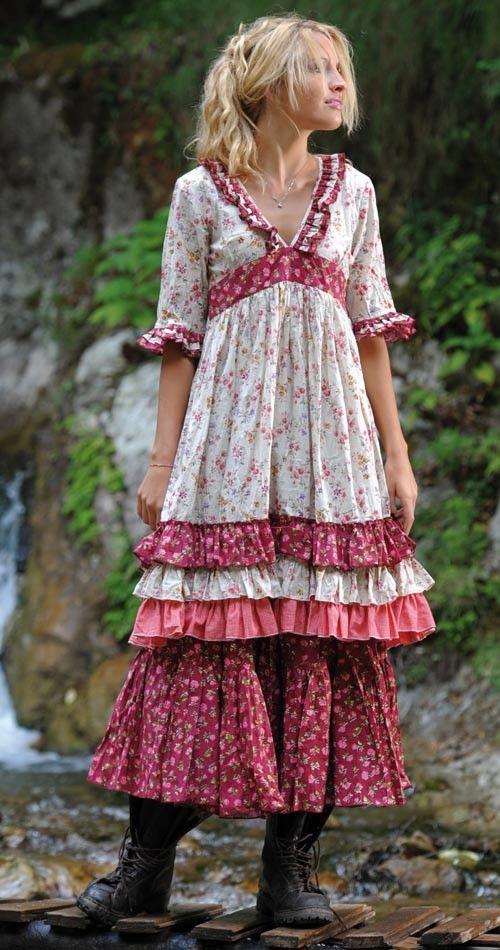 #Maxikleid im verträumten #Vintagelook #Sommermode
