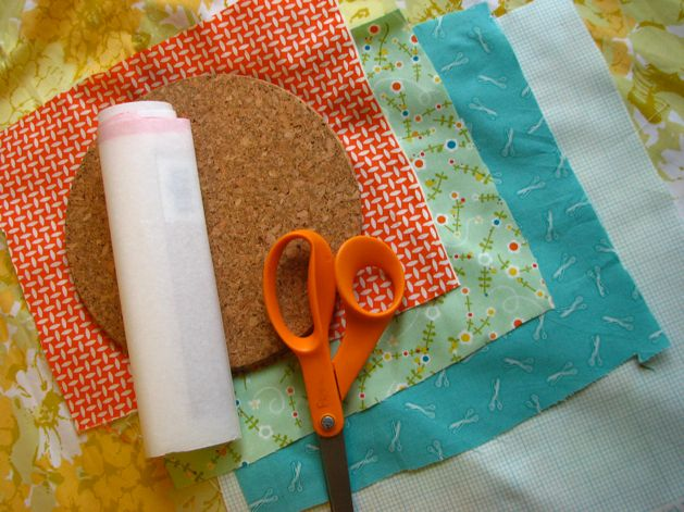 Fabric corkboard diy