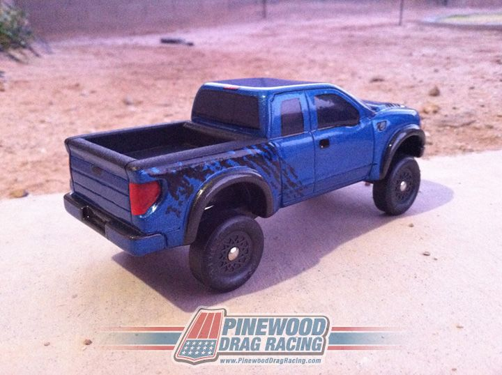 Pinewood Derby Ford Raptor Built By SIN Customs