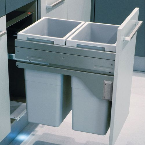 Hafele Euro Cargo 45 Sliding Side Mount 503 70 922 Kitchen Bin Hafele Recycling Bins Kitchen