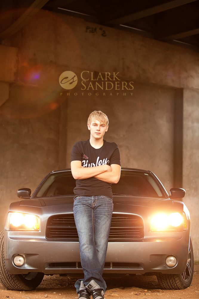 From Tyler's senior session with his cool car.