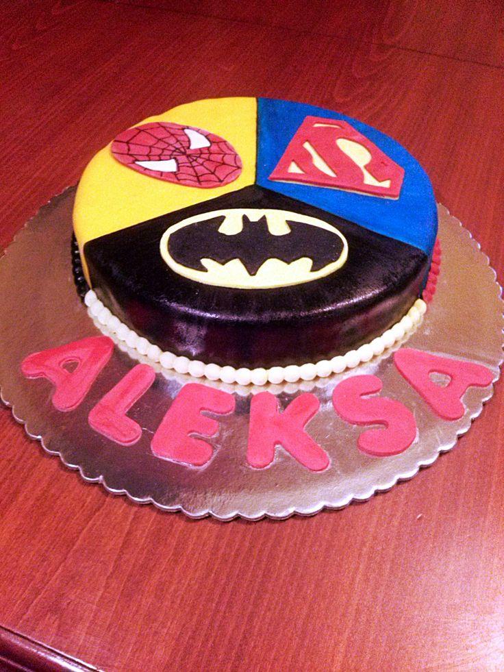 supermen spajdermen betmen torte cakes pinterest superman. Black Bedroom Furniture Sets. Home Design Ideas