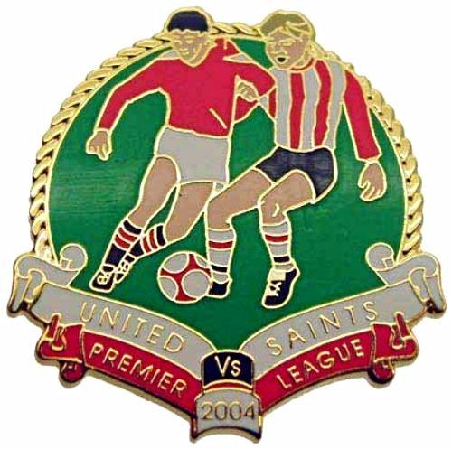 United v Saints Premier Match Metal Badge 2004-2005