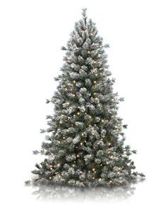 Frosted Sugar Pine Christmas Tree