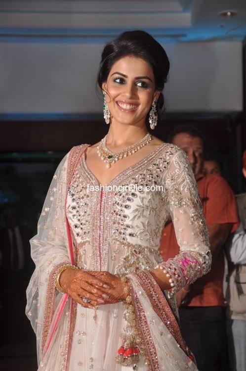 Genelia D'Souza's Sangeet outfit - Manish Malhotra