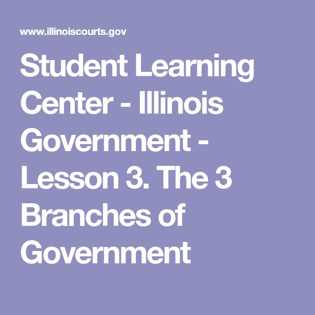 Student Learning Center - Illinois Government - Lesson 3. The 3 Branches of Government