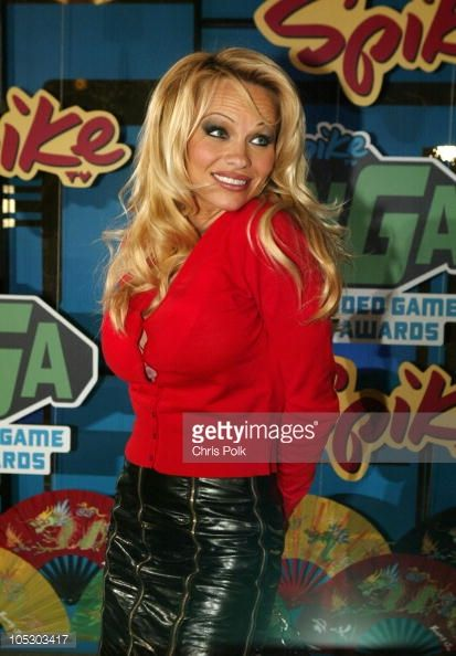Pamela Anderson during First Annual Spike TV Video Game Awards Arrivals at MGM Grand Casino in Las Vegas Nevada United States