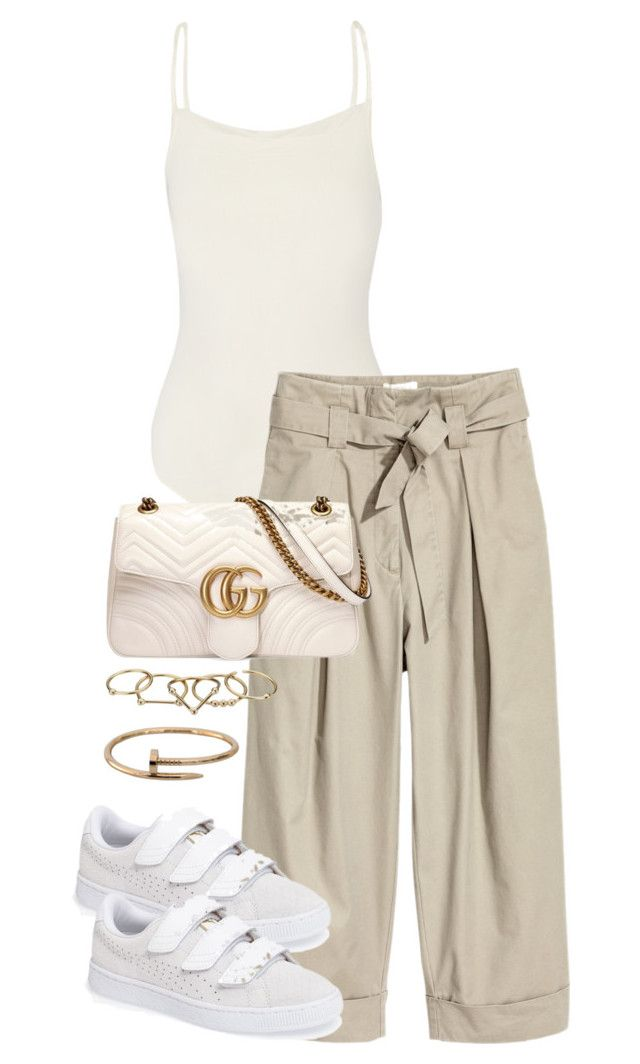 """Untitled #4441"" by theeuropeancloset on Polyvore featuring Hervé Léger, H&M, Gucci, Puma, Zimmermann and Cartier"