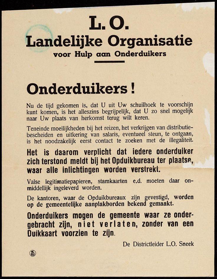 L.O. Landelijke Organisatie voor hulp aan Onderduikers De Landelijke Organisatie voor Hulp aan Onderduikers (LO) was tussen medio 1942 en mei 1945 een Nederlandse verzetsbeweging in de Tweede Wereldoorlog.