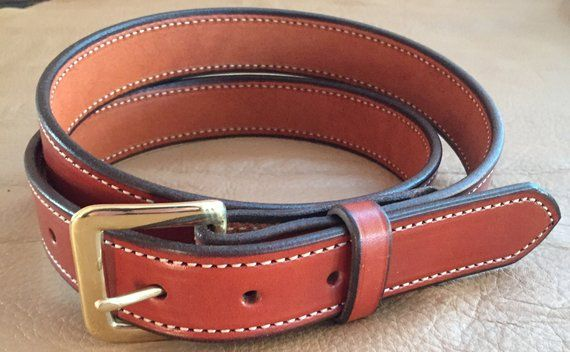 """1-1//4/""""Plain Stitched Real Genuine Leather Casual Dress Belt Strap*Amish USA Made"""