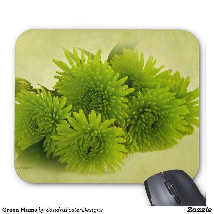 Green Mums Mouse Pad