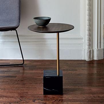 Cube Side Table  Umber Antique Brass Black Marble. 611 best 2016 Home Improvement   Furniture images on Pinterest
