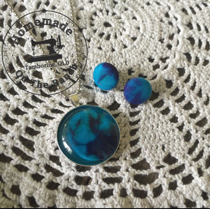 A personal favourite from my Etsy shop https://www.etsy.com/au/listing/484293701/tie-dye-pendant-and-earring-set