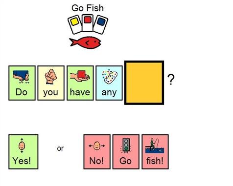 Go Fish Cue Card #adaptedgame