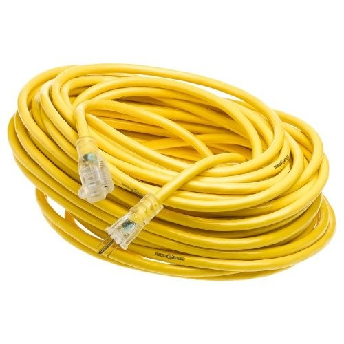 Yellow Jacket 2885 12/3 Heavy-Duty 15-Amp SJTW Contractor Extension Cord with Lighted Ends, 100-Feet - Amazon.com