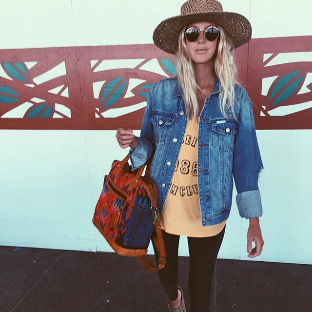 @the_salty_blonde with her Nena & Co Day Bag