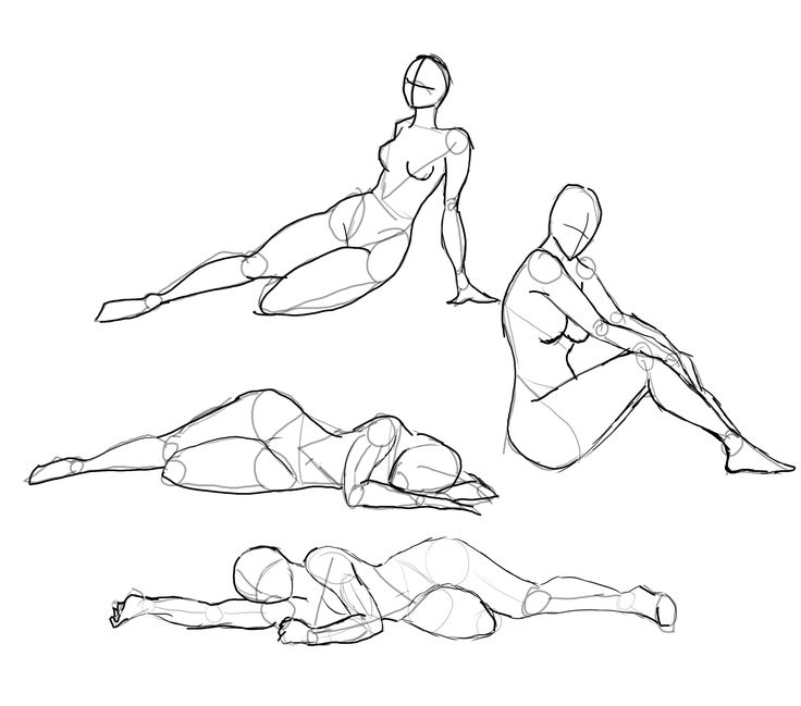 How to Draw the Human Body - Study: Resting Poses for Comic / Manga Character Reference