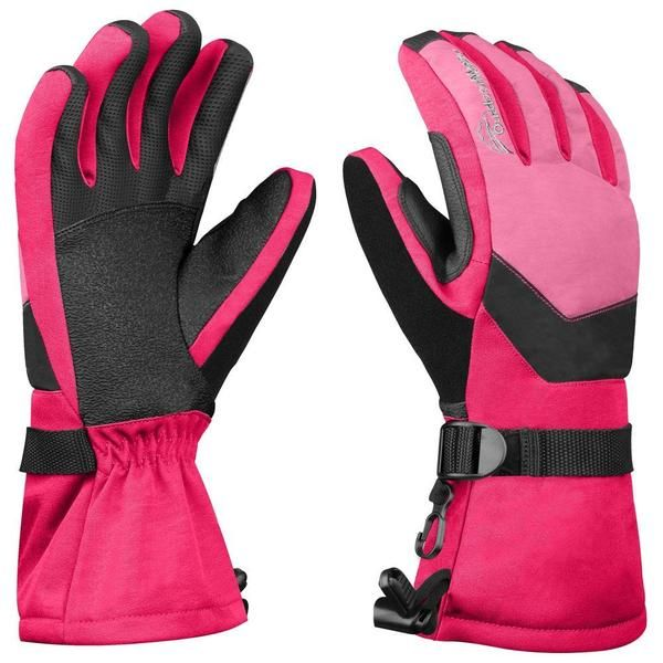 OutdoorMaster Women's Ski Gloves - HIGH FINGER PRECISION: New improved fit with flexible pre-curved fingers for maximum dexterity and great range of motion.