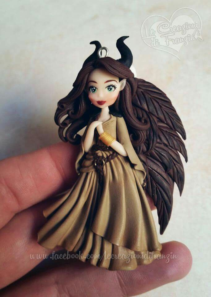 Young Maleficent pendant