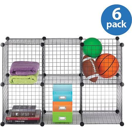Beautiful Whitmor Wire Storage Cubes, Set Of 6   Walmart.com