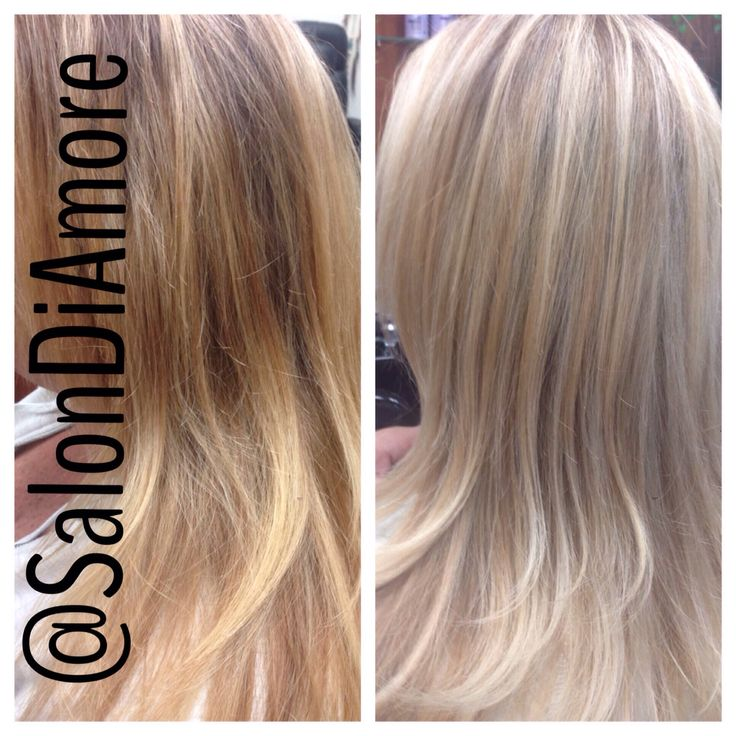 Blonde cut and Color by @SalonDiAmore #blonde #highlights #haircolor